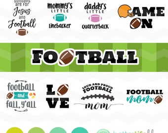 Football SVG Bundle: Football Mom svg File, dxf svg, bundle, DXF Silhouette Cameo, Cricut Fall Cut Files, Fall Autumn Jesus & Football Y'all