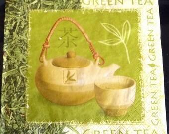 Green tea napkin
