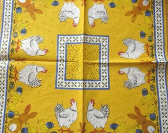 Chicks and chickens, rabbits paper towel