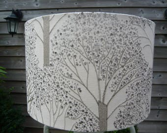 40cm drum embroidered & sequin tree lampshade