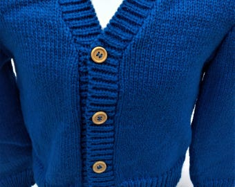 Wool, Kid vest waistcoat, vest handmade blue Cardigan, warm vest, chic vest, boy, Cardigan, cardigan, child cardigan vest