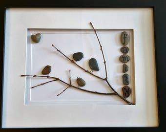 Pebble Art Family Tree