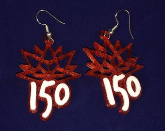 Canada 150 Themed Earrings - Celebrate Canada's 150th Birthday All Year!