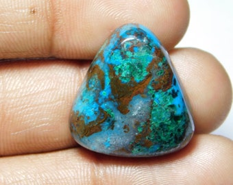 Top quality Azurite Cabochon,Loose Stone,Gemstone,Gorgeous Azurite Cabochon Excellent Gemstone 100%Natural 35.00cts.(24x22x6)mm