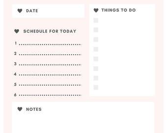 Be Happy Planner Printable