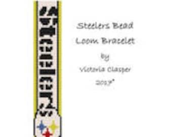 Steelers Bead Loom Bracelet by VikisCustomDesigns