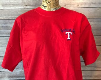 Vintage 90s Texas Ranger Embroidered T-Shirt (L)