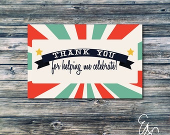 Instant Download Printable County Fair Themed Thank You Postcards