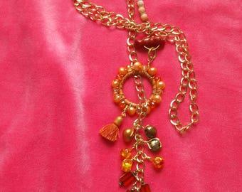 Georgia Peach On My Mind Necklace (Many Gemstones)