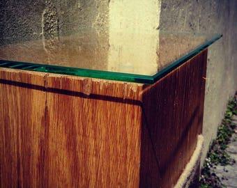 Solid Rustic Oak Side Table