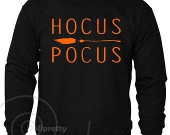Hocus Pocus SweatShirt Funny Halloween Costum Mens Ladies Womens Witch Sweatshirt