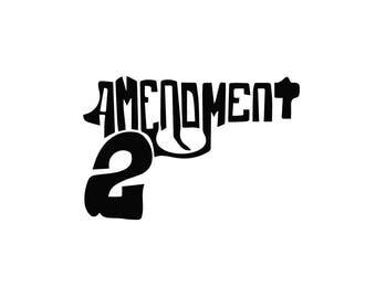 2A second amendment gun shape