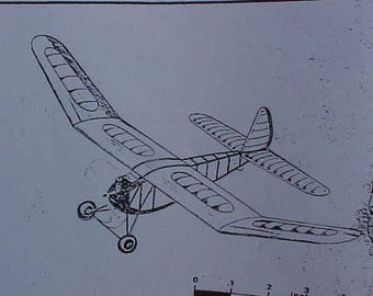 1937 Contest Winner Model Airplane Plans 96 Inch Wing Span