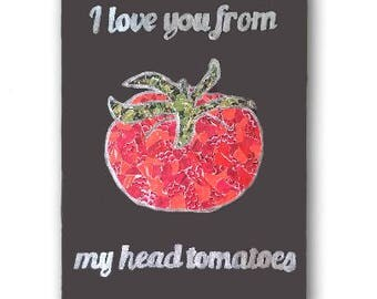 From My Head Tomatoes // Food Pun Canvas