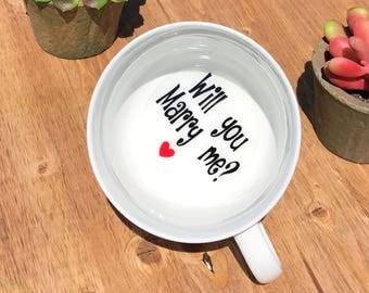 Will you marry me mug, Proposal mug, engagement mug, engagement cup, proposals ideas, personalized coffee mug, engagement ideas