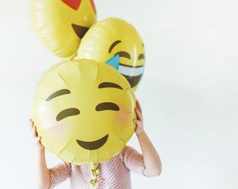 """Emoji Mylar Balloons - 18"""""""