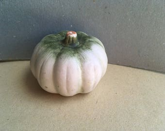 pottery pumpkin, hand painted, pottery faux fruits, table kitchen decor
