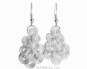 Roll-in wired earrings