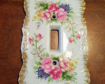 Chase Japan Porcelain Floral Switchplate