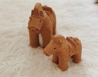 Vintage terracotta horses   Chinese terra-cotta horses   terracotta figurines   boho decor   bohemian decor   Asian decor