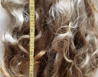 Natural Colored Mohair Locks 8 Inches