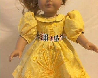"""Embroidered 18""""Doll dress"""