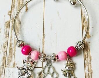 Furry Friends Bangle Bracelet