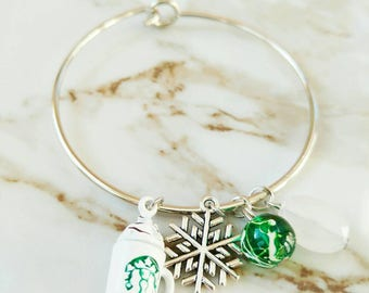 Starbucks Bangle Bracelet // Gifts for Coffee Lovers // Frappuccino