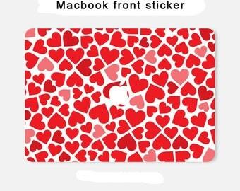 Love for macbook front sticker macbook pro front skin macbook sticker macbook air sticker