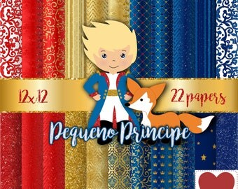 Little Prince Digital Paper Pequeno Principe Papel Digital Kit Digital Little Prince
