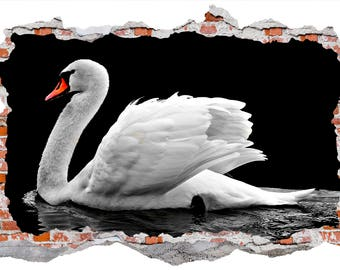 White Swan Smashed Wall Sticker Wall Decals