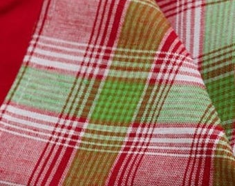 10pcs linen CLOTH NAPKINS - made in Europe - Colourful - Checked - Various Sizes