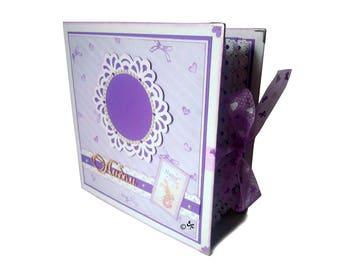 Baby photo album Baby scrapbook Baby girl mini album Baby girl photo book Interactive album Baby shower Daughter scrapbook Baby gift album