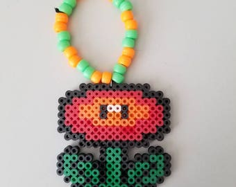 Mario Fire Flower Perler