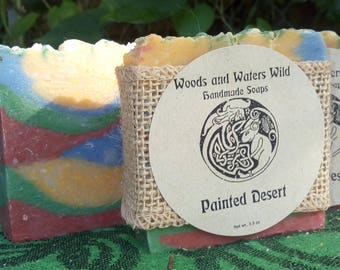 Painted Desert | Handmade soap | Natural soap | Cold process soap |
