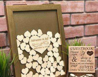 Wedding Guest Book Silver Alternative Drop Box Wedding Box