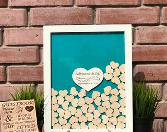 Wedding Guest Book Alternative Wedding Guest Book Guest Book Drop Box Guestbook Wedding Guest Book Heart Shadow Box