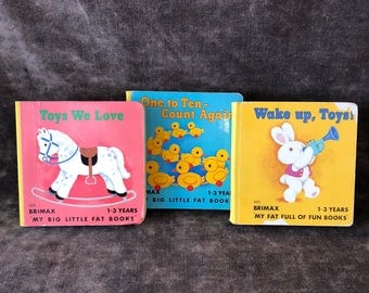 Vintage children's toddler baby board book lot by Brimax