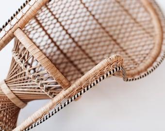 Vintage Small Decorative Rattan Chair