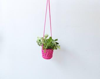 Crochet Hanging Planter