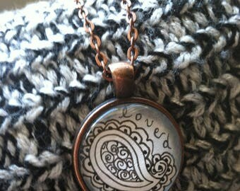 Loved Paisley Pendant Necklace