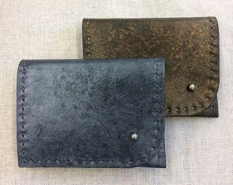 Metallic Leather Wallet, Pocket Wallet, Stud Wallet, Silver Metallic, Gold Metallic, Card Case