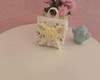Dollhouse Miniature,Lace Wall Hanging,Wall Plaque,Lace Picture,Vintage Inspired,Wall Decor,Shabby Cottage Chic,1:12th Scale