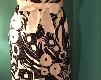 Felix Arbeo Black and White Mod Full Length Gown with Pockets