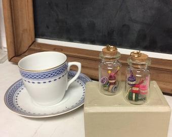 Handmade Knitting Jar Pendant