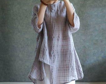 Linen shirt Rochelles shirting Loose shirt