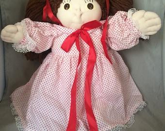 Handmade cloth doll( brunette )