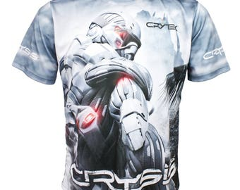 Crysis 3 The Hunt is On Fan Men Logo Cool Graphic Short Sleeve Black T Shirt