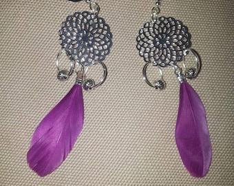 """Earrings """"Dreamcatcher"""" Violet"""
