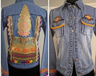 Denim Jacket Hand Embroidered